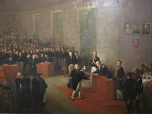 Free City of Cracow - Painting of the granting of the constitution of the Free City of Cracow (which occurred during the period, 1815-1818, while the painting itself dates from mid-19th century)