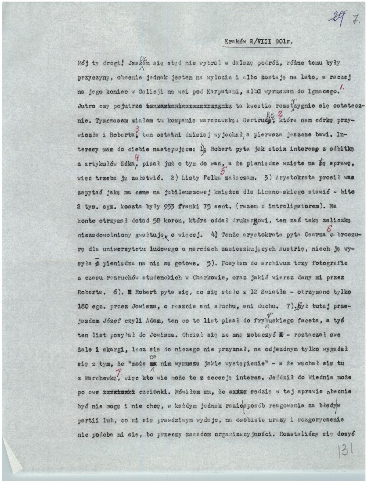 Filejózef Piłsudski List Piłsudskiego Do Jędrzejowskiego