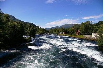 Jølstra - The Jølstra River at Vassenden in Jølster