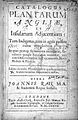 "J. Ray ""Catalogus plantarum..."", 1677; title page Wellcome L0001055.jpg"