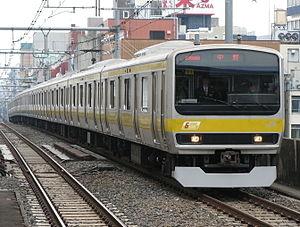 Chūō-Sōbu Line - Image: JR East E231 Mitsu 11