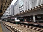 JR Hakata City Building from platform of Hakata Station.jpg