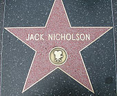 La stella di Jack Nicholson sulla Hollywood Walk of Fame