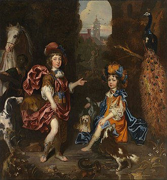 Jacob Huysmans - Edward Henry Lee, 1st Earl of Lichfield, and his wife Charlotte Fitzroy as children