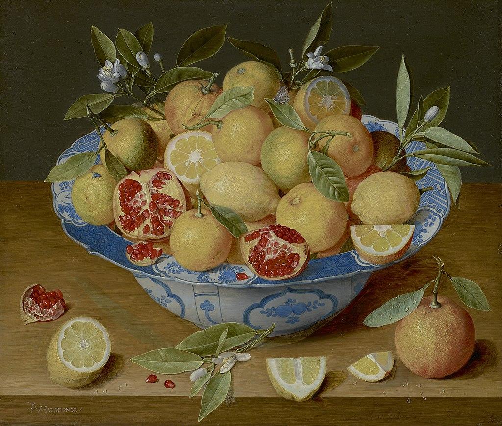 Jacob van Hulsdonck, Still Life with Lemons, Oranges and a Pomegranate, 1620-1640