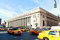 James Farley Post Office Building during rush hour.jpg