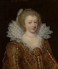 Portrait of Amélie Elisabeth of  Hanau-Münzenberg