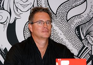 Jan Söderqvist - Jan Söderqvist at a book fair in 2009.