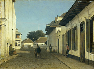 Kota Tua Jakarta - Declining city, in late 19th-century the walled Old Batavia has been reduced to kampung settlements and ruined old buildings.
