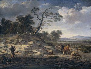 Jan Wijnants - Image: Jan Wijnants Landschap met vee op een landweg
