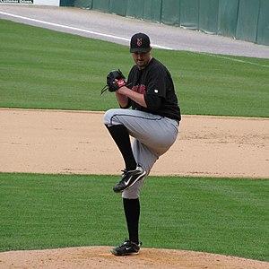 Jason Davis (baseball) - Jason Davis pitching for the Indians