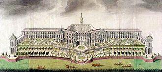 Royal Castle, Warsaw - Reconstruction design of the Royal Castle, ca. 1700.