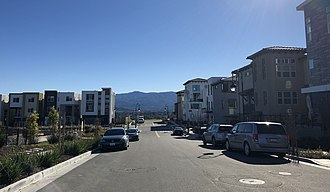 Communications Hill, San Jose - Image: Jayhawkers Place looking West