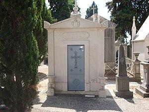 António José de Ávila, 1st Duke of Ávila and Bolama - Burial crypt of Ávila family, Prazeres Cemetery, Lisbon