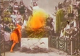 1900 in film - Joan burning at the stake at the climax of Joan of Arc.