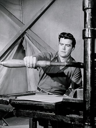 Jeff Richards (baseball player/actor) - Richards in Jefferson Drum, 1956