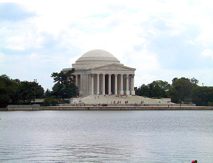 Jefferson Memorial in Washington, D.C., viewed from across the Tidal Basin of the Potomac Jefferson Memorial.jpg