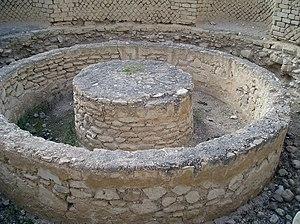 Laconicum w termach pałacu Heroda Wielkiego. S...