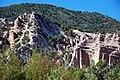 Joe Lott Tuff & normal fault & drag-folded Sevier River Formation (Joe Lott Creek Canyon, Tushar Mountains, Utah, USA) 7.jpg