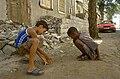 Jogo de carambola. Rua 5 de Julho. Praia - Cabo Verde. 1997.jpg