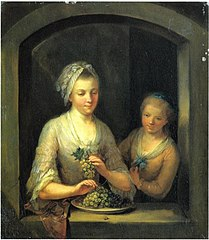 A Woman and a Girl at a Window