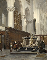La Chaire de l'église Notre-Dame de Bréda et la tombe d'Engelbert II de Nassau