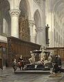 Johannes Bosboom - Het koor van de Onze Lieve Vrouwekerk te Breda met het grafmonument van Engelbert II van Nassau.jpg