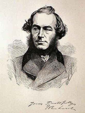 John Leech (caricaturist) - Portrait of John Leech  Engraving published in Punch
