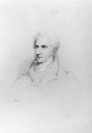 John Carr (travel writer) - Sir John Carr, 1832 drawing by William Brockedon