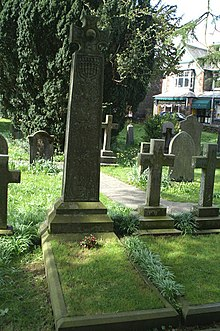 Tomba di Ruskin nel cimitero di Coniston