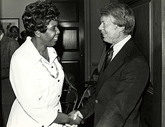 Barbara Jordan - Mickey Leland School Of Public Affairs - Jordan and Carter ca. 1977 w ccwatermark