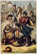 Joseph Martin Kronheim - Foxe's Book of Martyrs Plate III - Assassination of La Place.jpg