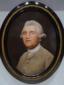 Josiah Wedgwood by George Stubbs, 1780, enamel on a Wedgwood ceramic tablet - Wedgwood Museum - Barlaston, Stoke-on-Trent, England - DSC09537.jpg