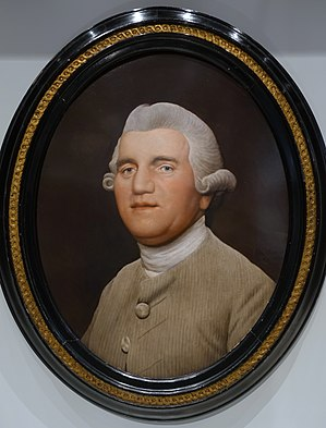 Josiah Wedgwood - Josiah Wedgwood by George Stubbs, 1780, enamel on a Wedgwood ceramic tablet