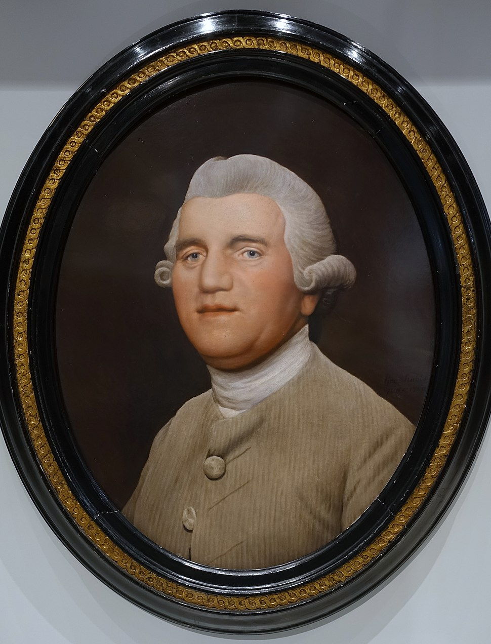 Josiah Wedgwood by George Stubbs, 1780, enamel on a Wedgwood ceramic tablet - Wedgwood Museum - Barlaston, Stoke-on-Trent, England - DSC09537