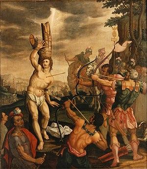 Josse van der Baren - The Martyrdom of Saint Sebastian, central panel