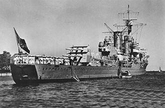 German cruiser Königsberg - Königsberg circa 1936