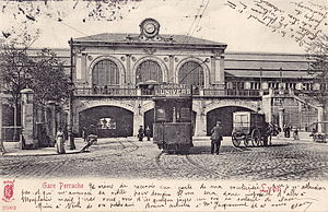 Gare de Lyon-Perrache - The station's façade in 1903.