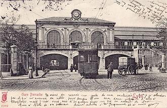 Gare de Lyon-Perrache - The station's façade in 1903.