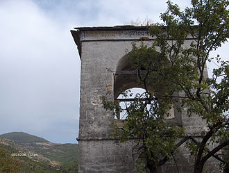 Banitsa (ruins) - Steeple of bell tower at Banitsa