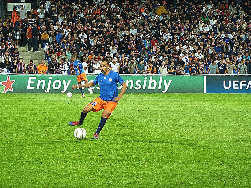 Karim Aït-Fana lors du match MHSC - Arsenal (Ligue des Champions, Phase de poules, 1er match, 18/09/2012