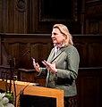 Karin Kneissl besucht Löwen um einen Vortrag an der Universität zu halten (32114384938).jpg
