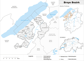 Localisation de District de la Broye