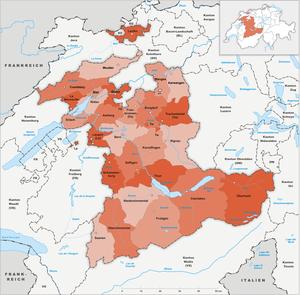 Subdivisions of the canton of Bern - Image: Karte Kanton Bern Bezirke 1993