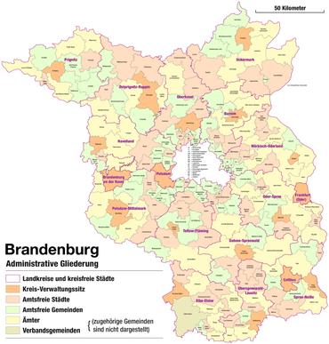 Bundesland Karte Mit Städten.Liste Der Städte In Brandenburg Wikipedia