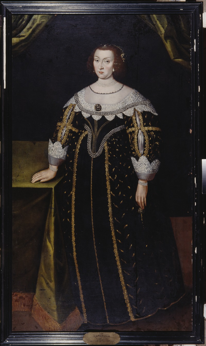 Katarina, 1584-1638, prinsessa av Sverige pfalzgrevinna av Zweibrücken (Jacob Heinrich Elbfas) - Nationalmuseum - 15100.tif