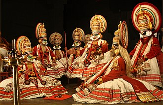 Theatre of India - Image: Kathakali Play with Kaurava