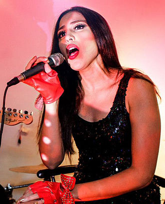 Kenia Arias - Kenia Arias performing live at LMNT in Miami's Wynwood Art District.