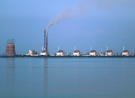 Zaporizhia nuclear station, the largest nuclear power plant in Europe Kernkraftwerk Saporischschja.JPG