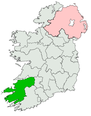 Kerry–Limerick West (Dáil Éireann constituency) - Image: Kerry Limerick West Dáil constituency 1921 1923